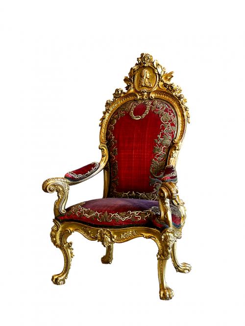 throne ruler chair chair
