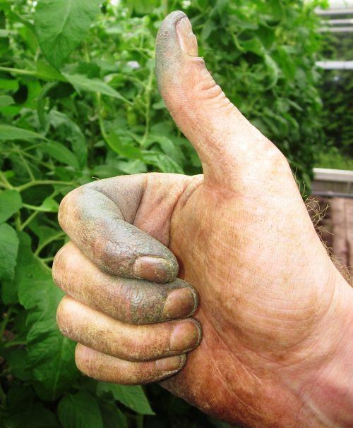 thumb gardener hand