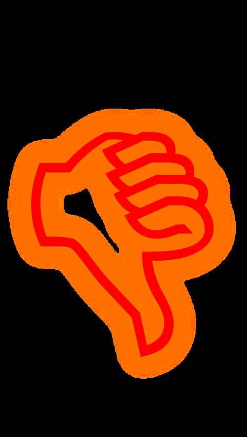 thumb red transparent