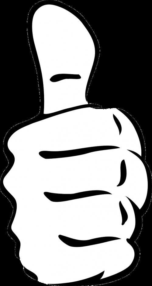 thumb up success