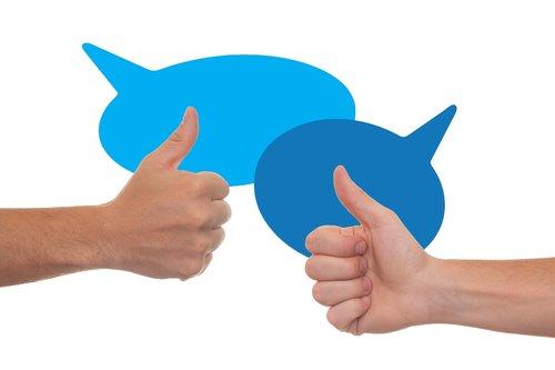 thumb  feedback  confirming