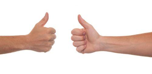 thumb hand arm