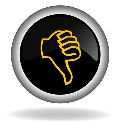 thumb down button icon