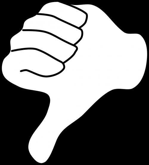 thumb down hand dislike