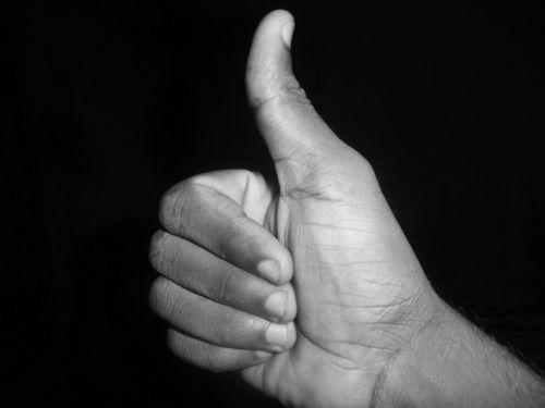 thumb up like sign