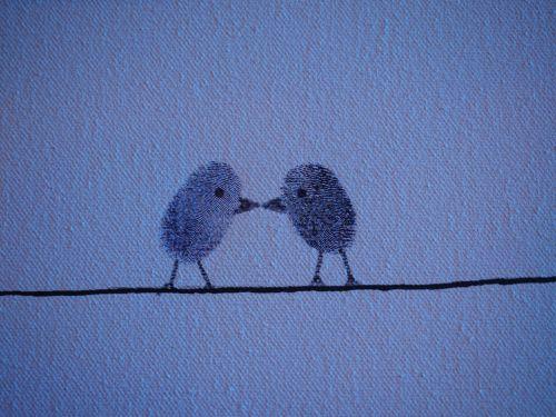 thumbprint fingerprint birds