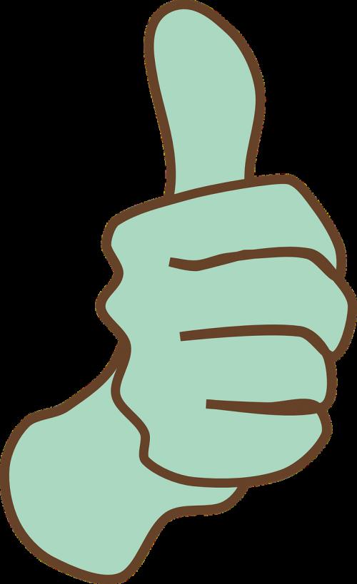 thumbs up like
