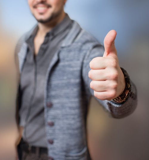 thumbs up  success  approval
