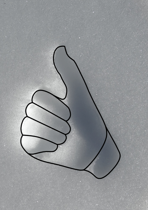 thumbs up contour relief