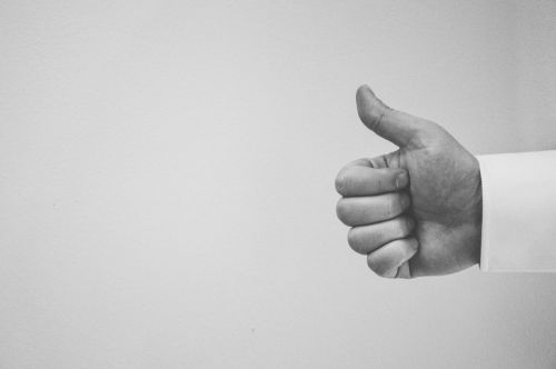 thumbs up hand people