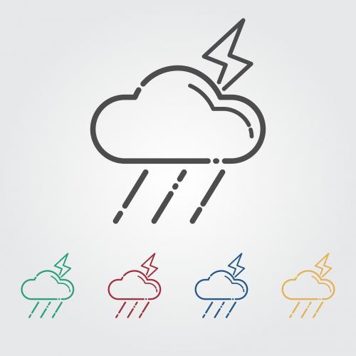 thunderbolt icon cloud