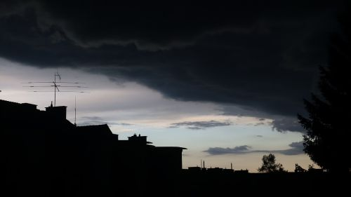 thunderstorm clouds gloomy