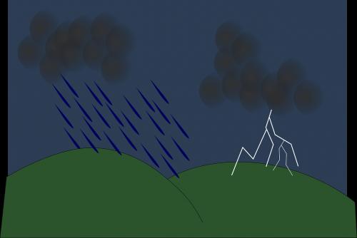 thunderstorm lightning clouds