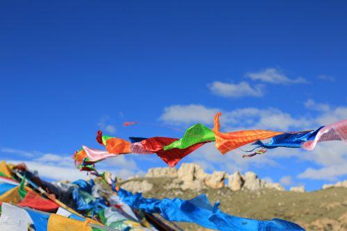 tibet prayer flags faith