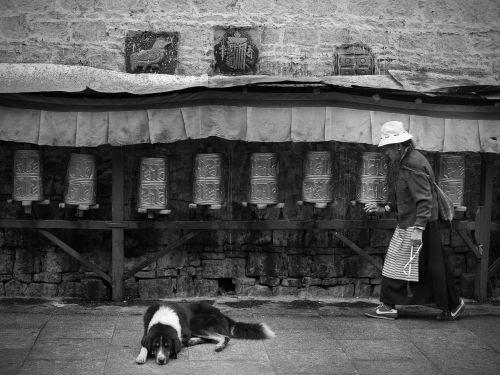 tibet prayer the old man