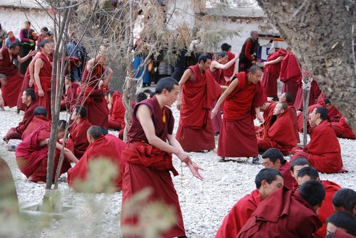 tibet  monks  training