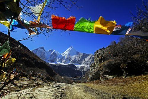 tibetan inagi prayer flags