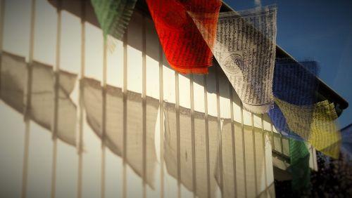 tibetan prayer flags wind