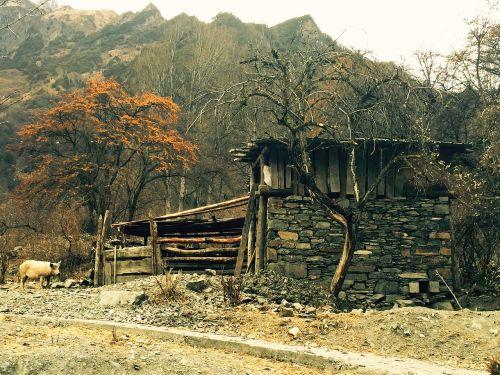 tibetan cabins shuangqiaogou siguniangshan