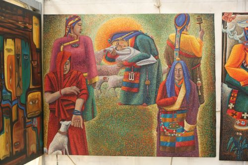 tibetan monks samchung painting