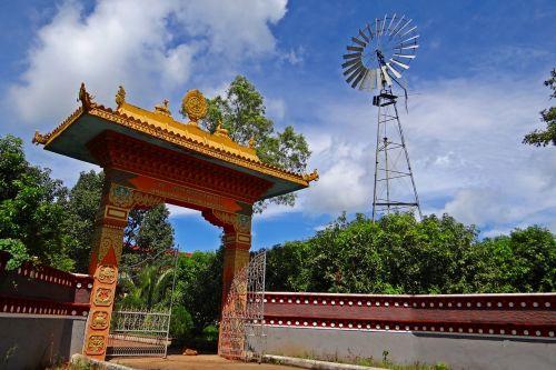 tibetan settlement gate wind mill