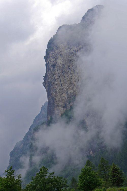 ticino landscape fog