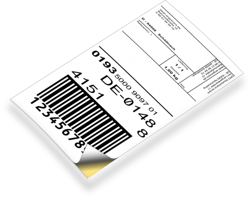 ticket label parcel