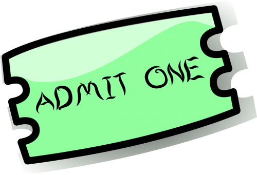 ticket admission entry