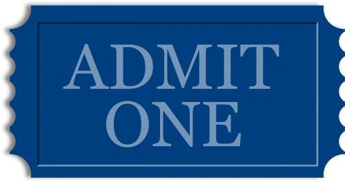 ticket admit stub