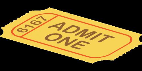 ticket admission cinema