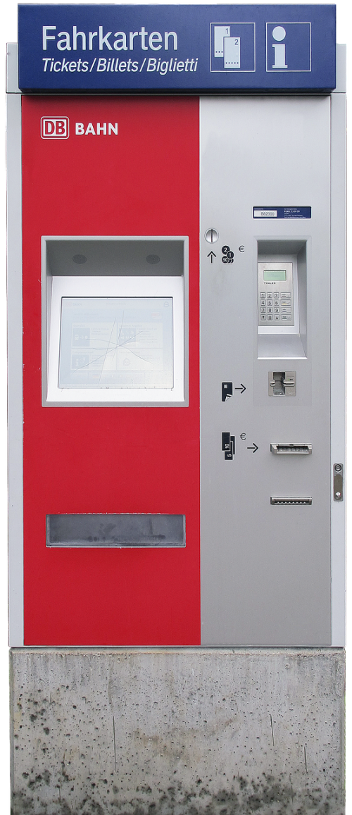 ticket machine ticket vending machine self-service vending machine