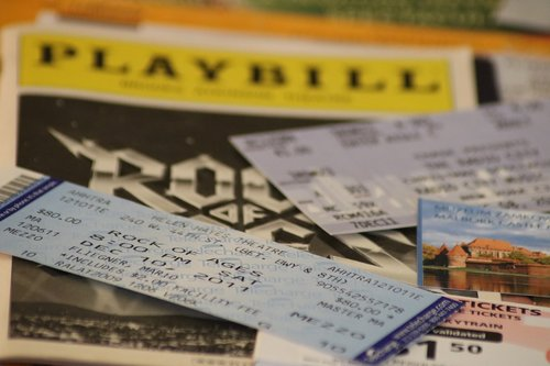 tickets  ticket  playbill