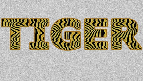 tiger word-art animal