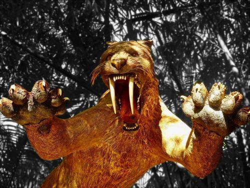 tiger sabre tooth extinct