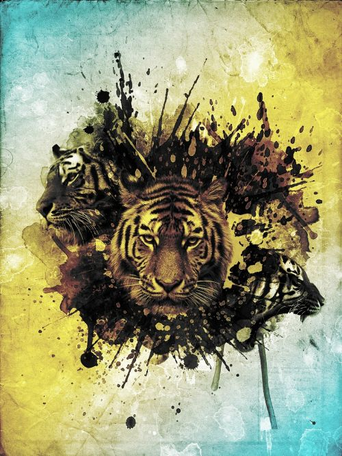 tiger abstract photoshop