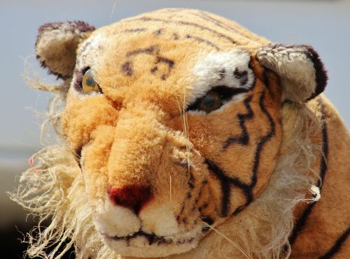 tiger stuffed animal old