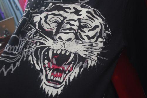 tigras, veidas, gyvūnas, apranga, spausdinti, tigro veidas