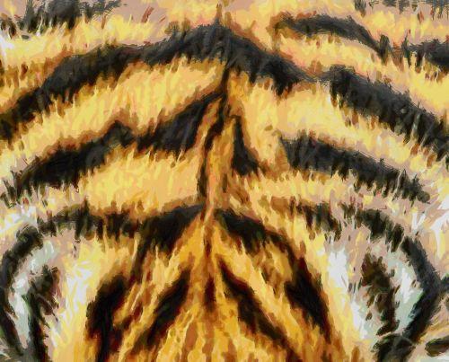 Tiger Fur Painting