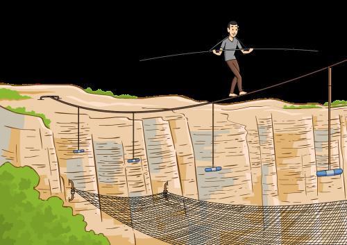tightrope walk balance