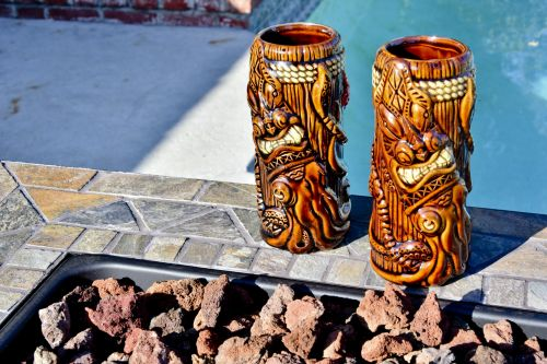 Tiki Cups By The Pool