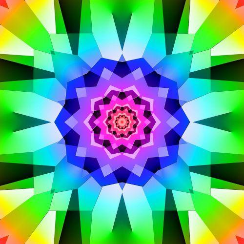 tile ornament kaleidoscope
