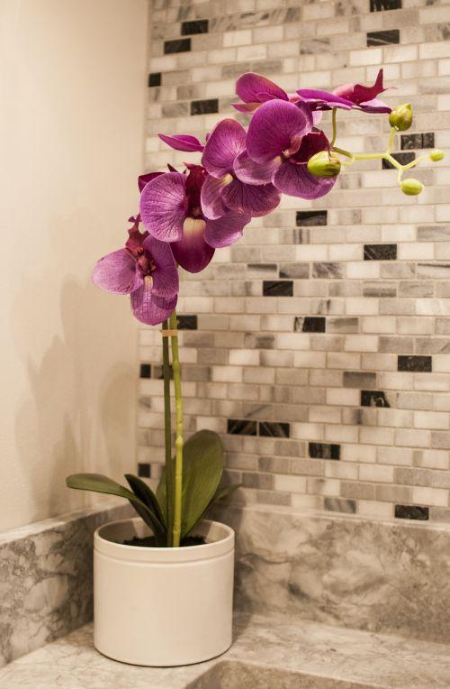 tile mosaics orchid