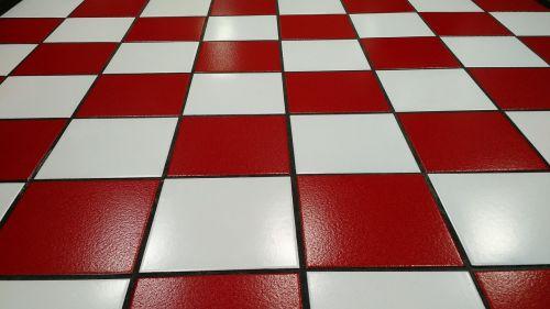 tile red white