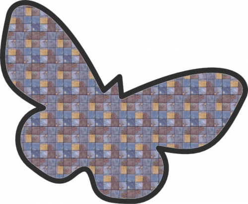 Tiled Butterfly