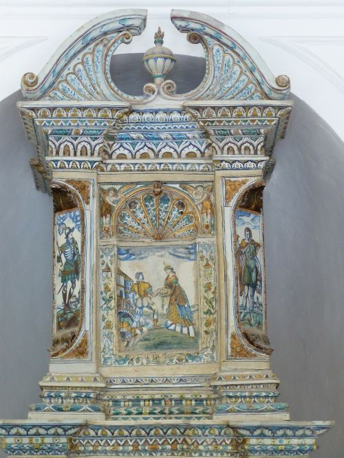 tiled stove oven hellbrunn