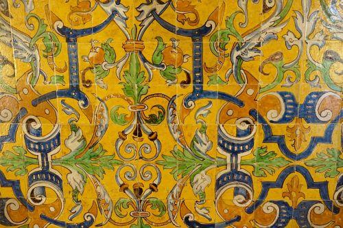 tiles colourful motif