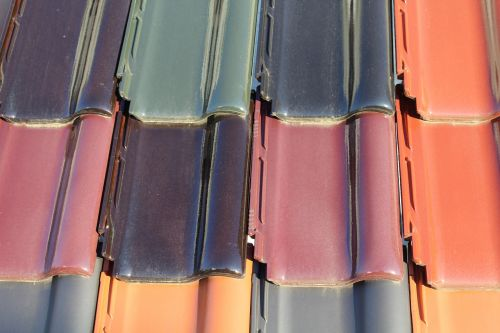 tiles colored tiles roof