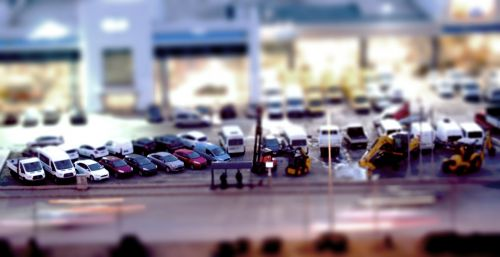 tilt shift toy high