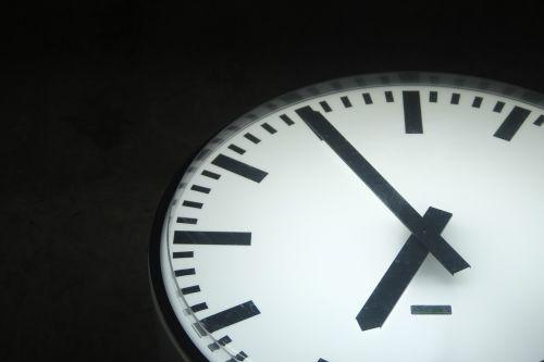 time clock evening