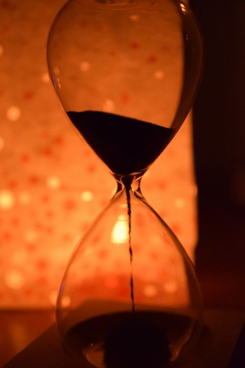 time hourglass is running out